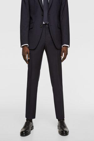 Zara Textured wool trousers