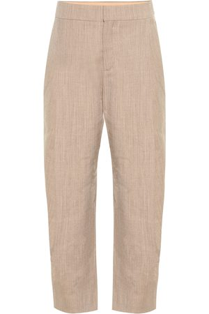 Chloé Cropped high-rise stretch-wool pants