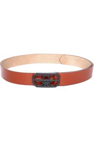 Benetton Men Tan Brown Solid Leather Belt