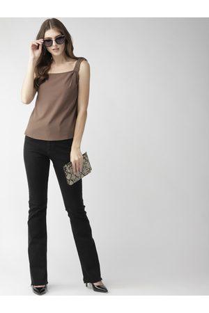 MISH Women Brown Solid Top