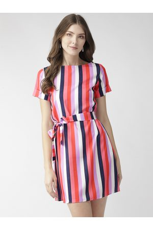 MISH Women Multicoloured Candy Striped A-Line Dress