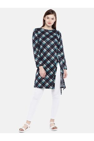 AND Women & Green Checked Tunic