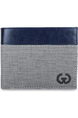 Greywood Men Grey Solid Two Fold Wallet