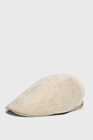Zara Textured linen cap