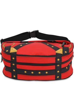 VERSACE Bondage Printed Nylon Belt Bag