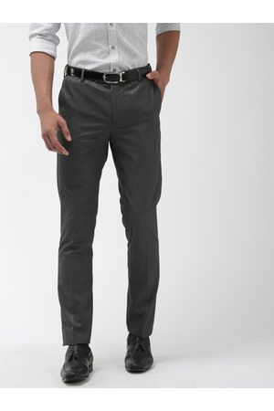 AJC Men Tapered Fit Solid Formal Trousers