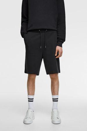 Zara Men Bermudas - Basic joggers bermuda shorts