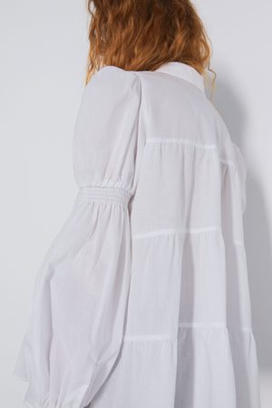 Zara Gathered shirt
