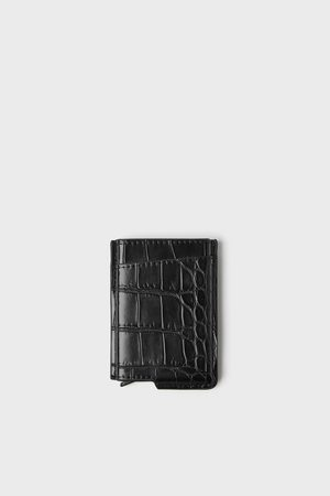 Zara Embossed functional card holder