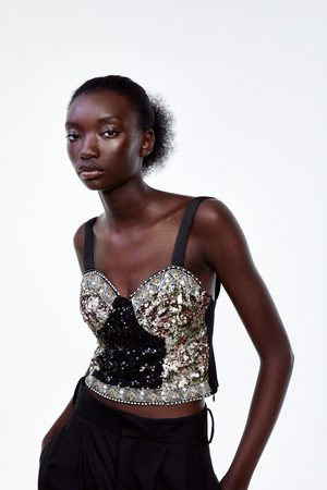 Zara Cropped top with sequins