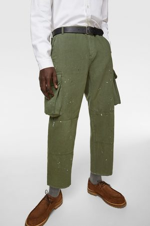 Zara Cargo trousers with drip effect
