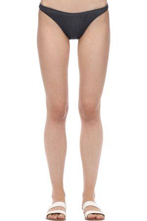 Solid Vanessa Denim Bikini Bottoms