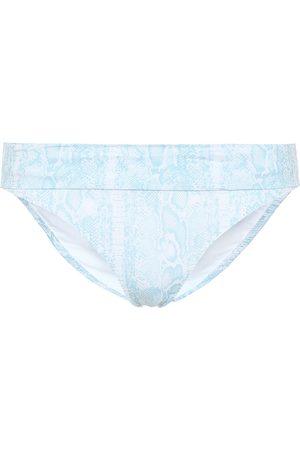 Heidi Klein Lake Manyara snake-print bikini bottoms
