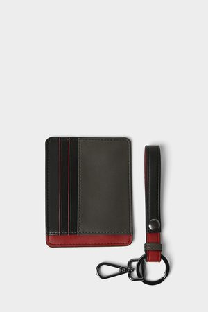 Zara Three-tone card holder and key strap pack