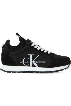 Calvin Klein Women Sneakers - 20mm Josslyn Nylon & Suede Sneakers