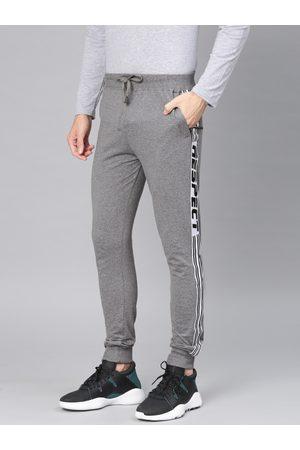 Maniac Men Charcoal Grey Solid Joggers