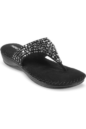 All Things Mochi Women Black Solid Sandals