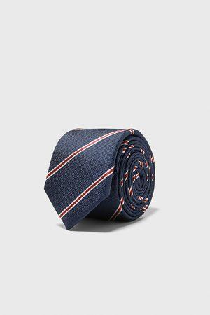 Zara Striped jacquard skinny tie