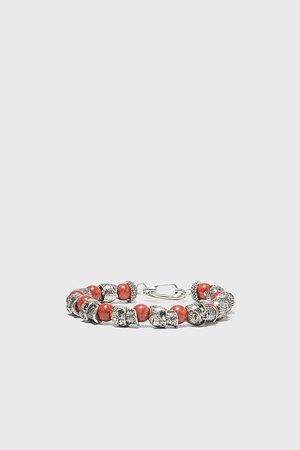Zara Men Bracelets - Beaded skull bracelet