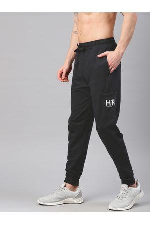 HRX Active Men Black Solid Regular Fit Lifestyle Joggers
