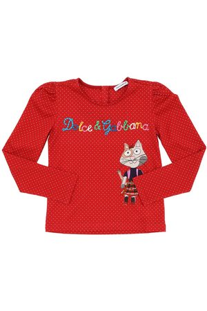 DOLCE & GABBANA Printed L/s Cotton Jersey T-shirt