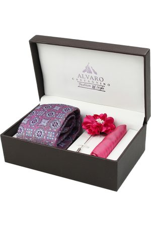 Alvaro Castagnino Men Pink & Silver-Toned Accessory Gift Set