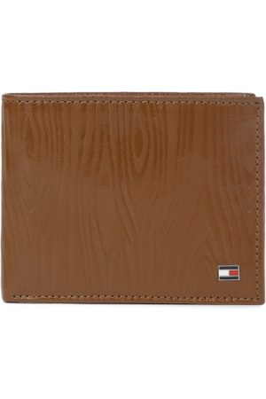 Tommy Hilfiger Men Tan Textured Genuine Leather Two Fold Wallet