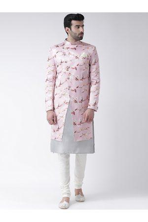KISAH Men Pink Printed Sherwani