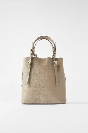 Zara Animal print tote bag