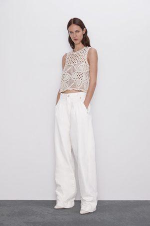 Zara Open knit top