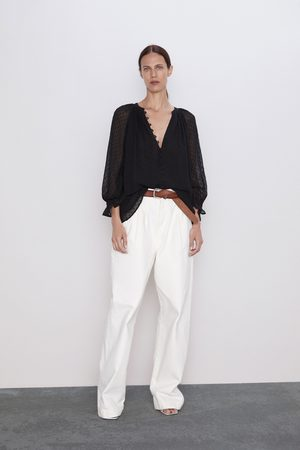 Zara Dotted mesh blouse