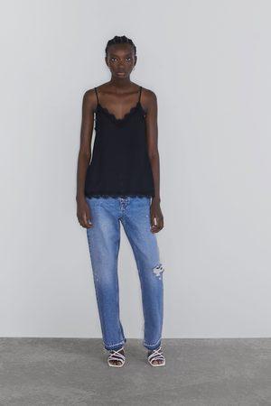 Zara Jacquard camisole top