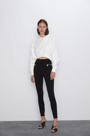 Zara Hi-rise leggings with zips
