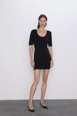 Zara Scalloped shift dress