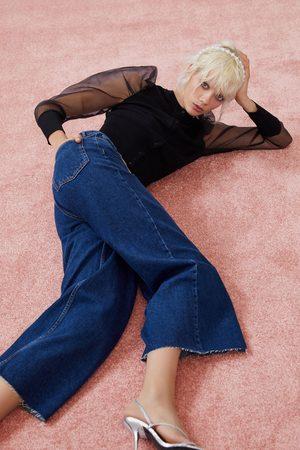 Zara Women Culottes - Hi-rise culotte jeans
