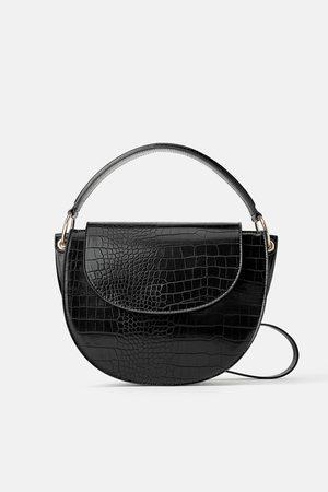 Zara Animal print oval crossbody bag