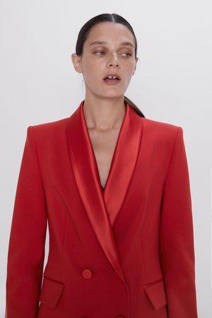 Zara Double-breasted blazer with shawl collar