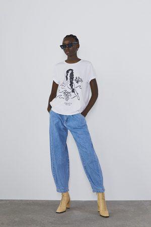 Zara Text print t-shirt