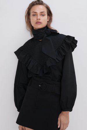 Zara Poplin blouse with bow