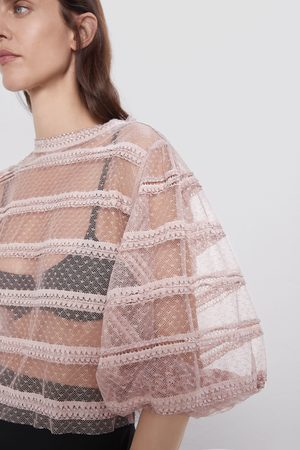 Zara Semi-sheer knit top