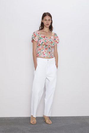 Zara Floral print top
