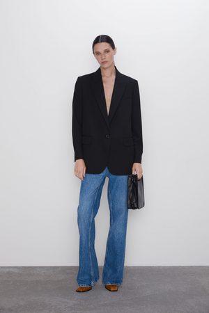 Zara Oversized single-button blazer
