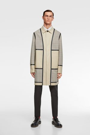 Zara Check patchwork traveller trench coat