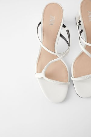 Zara Mid-heel mules with asymmetric straps