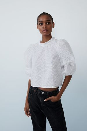 Zara Voluminous textured top