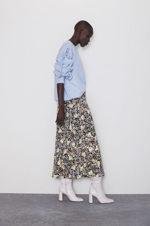Zara Women Printed Skirts - Floral print skirt