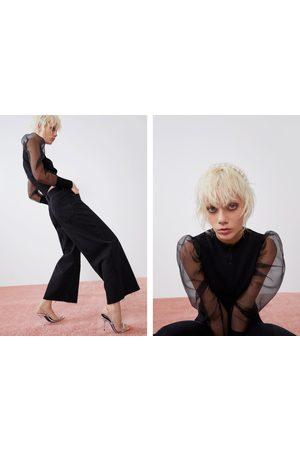 Zara Hi-rise culotte jeans