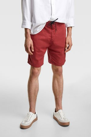 Zara Men Bermudas - Rustic bermuda shorts with cord detail