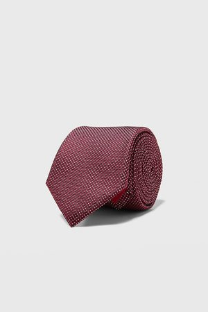 Zara Men Neckties - Geometric jacquard wide tie