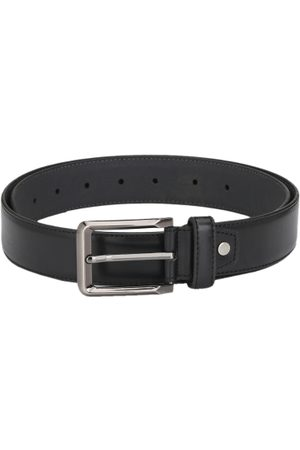 Calvadoss Men Belts - Men Black Textured Belt